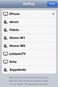 AirPlay Streaming vom iOS aus