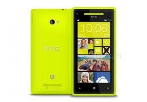 HTC 8X limelight yellow