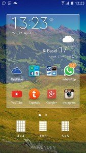 Samsung Galaxy S6 Screenshot vom System