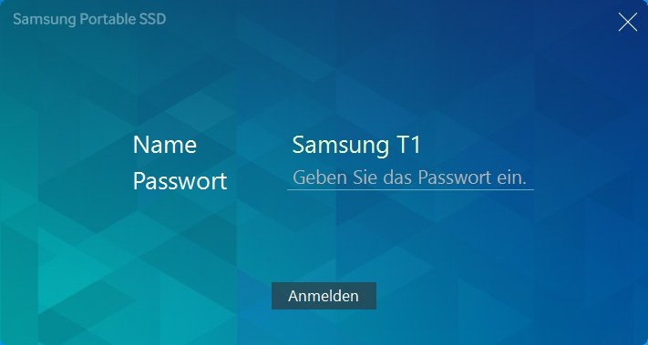 Samsung SSD T1 Software